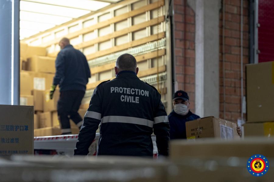 La protection civile prend en charge le transport de 5.000.000 masques