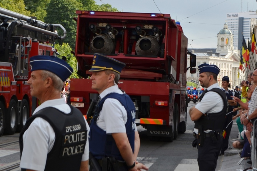 Turbojet de la Protection civile - BASF et auto-élévateur 50m service d'incendie