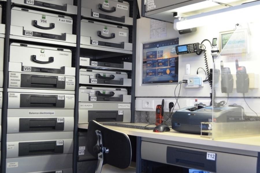 Activités scientifiques et laboratoire CBRN Protection civile