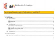Catalogus voortgezette opleiding juni 2017